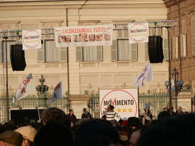 Palco di Grillo a Torino